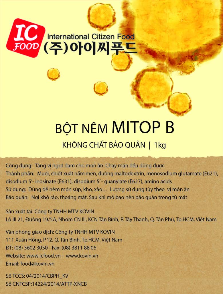 Nhãn 1kg Mitop B